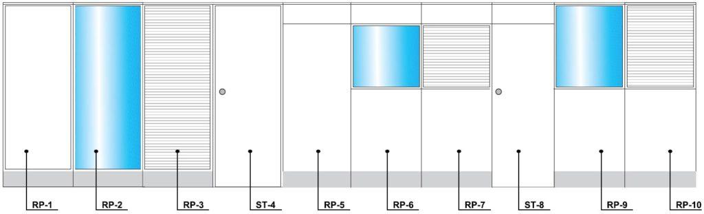 divisoria piso teto com rodape eletrificável